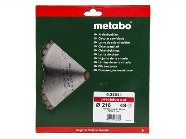 List testere Ø216x30x2.4mm/40zuba Metabo(1643)